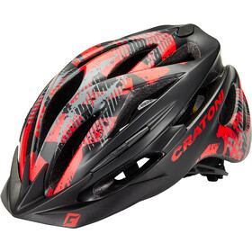 Cratoni Pacer Kask MTB, black/red matte